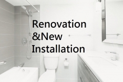 Renovation and new plumbing installation in Ottaw