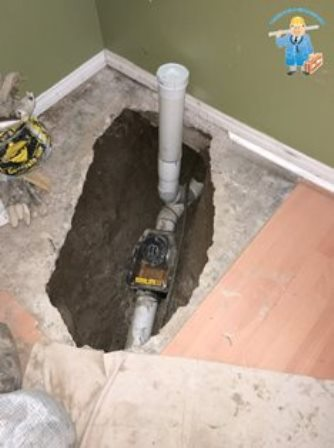 Backwater valve installation